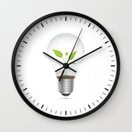 Light Bulb Plant Wall Clock