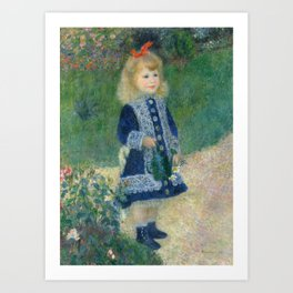 Girl with a Watering Can Art Print