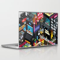 engineer Laptop & iPad Skins featuring GAMECITY by Totto Renna