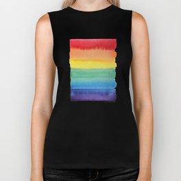 LGBT Flag, Gay Pride, Gay Rainbow, Rainbow, LGBT Rainbow, Watercolor, Watercolor Painting, Biker Tank