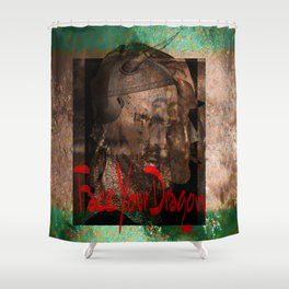 Face Your Dragon Shower Curtain