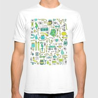 to and fro White MEDIUM Mens Fitted Tee