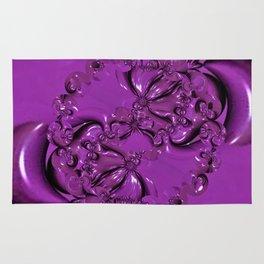 Shiny Purple Daisy Chain Rug