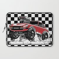 1975 Laptop Sleeves featuring 280z GASSER by SCREAMNJIMMY