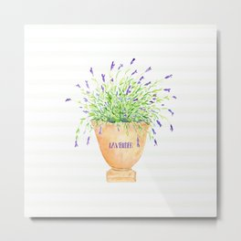 Lavender Love Metal Print