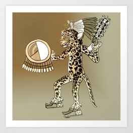 Pre-Columbian  Jaguar Shaman Art Print