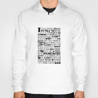 word Hoodies featuring Word by Etiquette