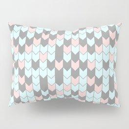 Modern coral teal gray geometrical zigzag chevron Pillow Sham