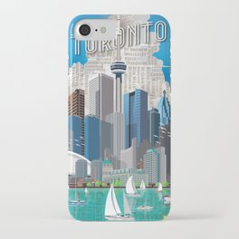 Toronto Skyline wide iPhone Case
