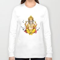 ganesha Long Sleeve T-shirts featuring Ganesha by O. Be