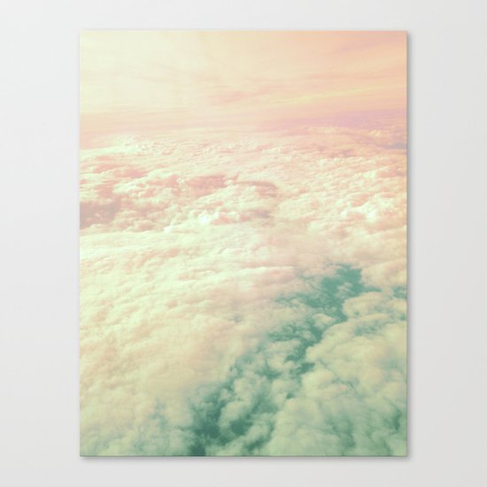Raindbow Clouds Canvas Print