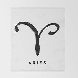 KIROVAIR ASTROLOGICAL SIGNS ARIES #astrology #kirovair #symbol #minimalism #home #decor Throw Blanket
