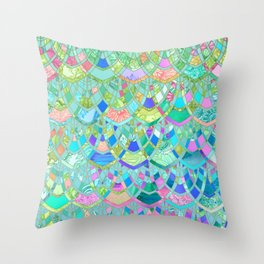 Art Deco Watercolor Patchwork Pattern 1 Throw Pillow