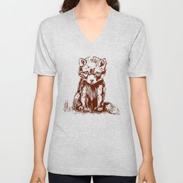 Cute little baby fox  Unisex V-Neck