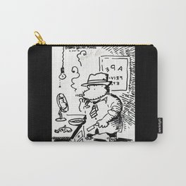 Hard-Boiled Detective Ape Shaves at the Office Carry-All Pouch