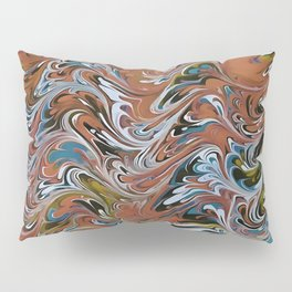 Marble Abstract In Red Pillow Sham