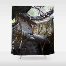 Broken Dash Shower Curtain