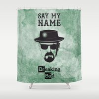 breaking bad Shower Curtains featuring BREAKING BAD by Zorio