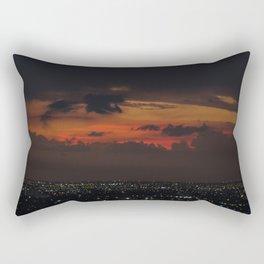 A Sky On Fire Rectangular Pillow