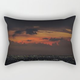 A Sky On Fire Rectangular Pillow