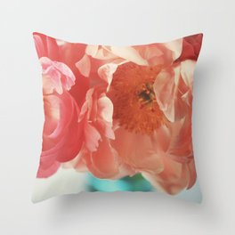 Paeonia #4 Throw Pillow