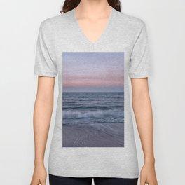 Pastel beach sunset Unisex V-Neck