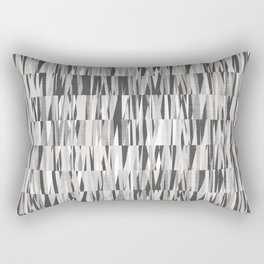 Wexler Mid-Century Modern Geo in Grey Rectangular Pillow