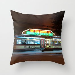 Mickey's Diner Throw Pillow