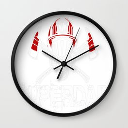 firefighter by day super dad Wall Clock