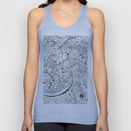 ' Eyeballs, Vertebrae, Teeth & Tentacles Oh My! By: Matthew Crispell Unisex Tank Top