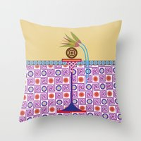 bread Throw Pillows featuring Ancient Bread #1 by Paco Dozier
