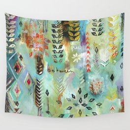 """Fly Free Between"" Original Painting by Flora Bowley Wall Tapestry"
