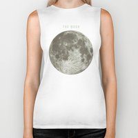 astronomy Biker Tanks featuring The Moon  by Terry Fan