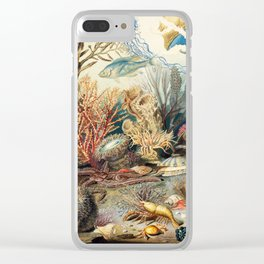 Ocean Life by James M. Sommerville 1859 Clear iPhone Case