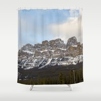dino Shower Curtains featuring Dino by Alexander James
