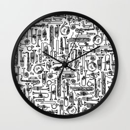 Horns B&W II Wall Clock