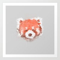 red panda Art Prints featuring Red Panda by Zach Terrell