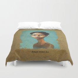Portrait of Ayaan Hirsi Ali Duvet Cover