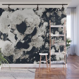 High Contrast Black and White Snowballs Wall Mural