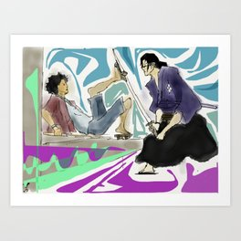 Samurai Champloo Battle - Mugen vs Jin Art Print