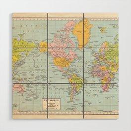 World Map Wood Wall Art