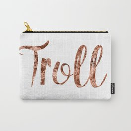 Rose gold troll Carry-All Pouch