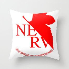 Anime Art - NERV Throw Pillow