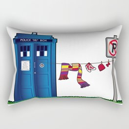 Doctor Who: tardis wardrobe  Rectangular Pillow