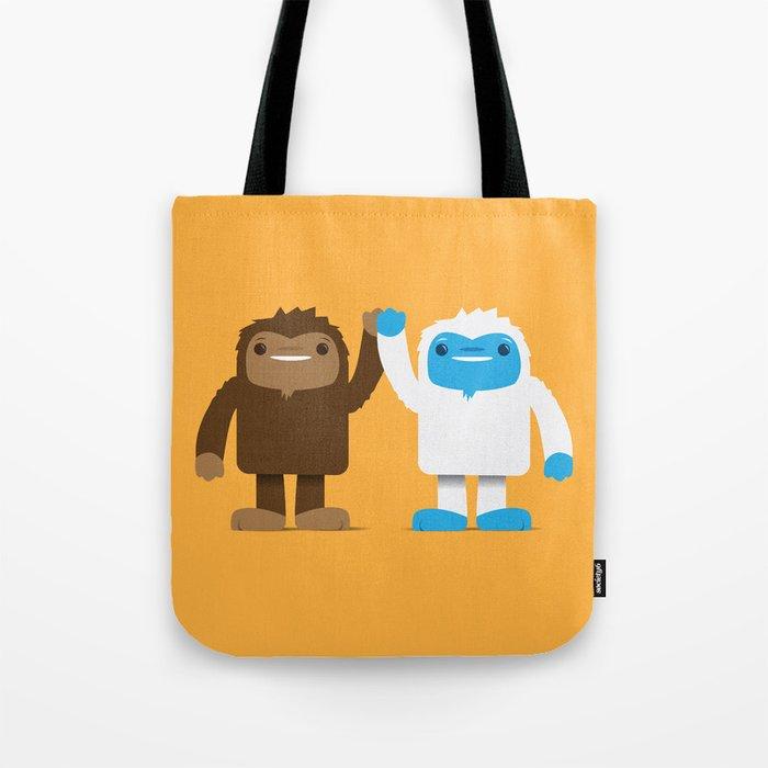 Bigfoot and Yeti Bros - High Five Tote Bag