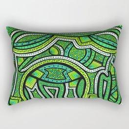 Green Ellie Rectangular Pillow