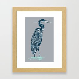 Bewitching blue heron Framed Art Print