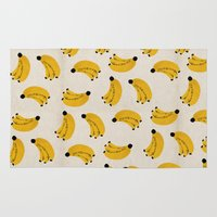banana Area & Throw Rugs featuring Banana by Roland Lefox