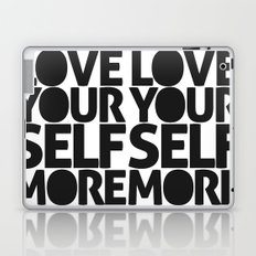 LOVE YOURSELF MORE Laptop & iPad Skin