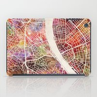 budapest iPad Cases featuring Budapest  by MapMapMaps.Watercolors